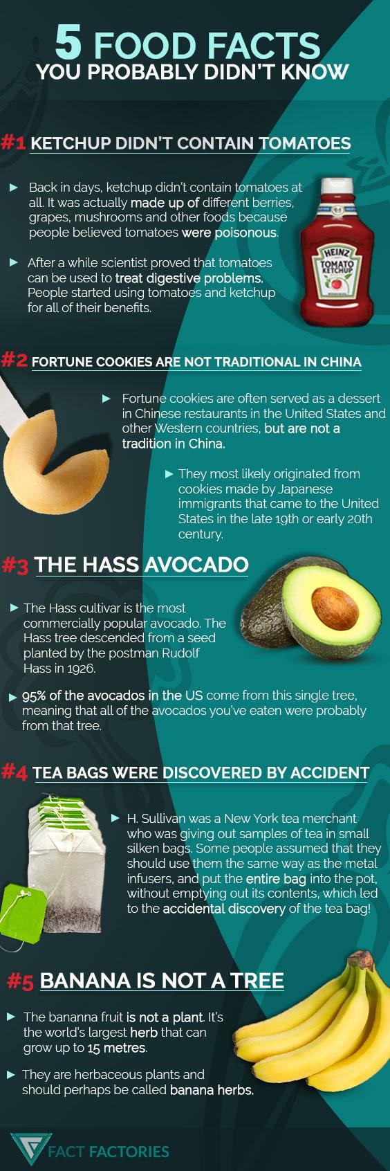 5 Food Facts - weird facts
