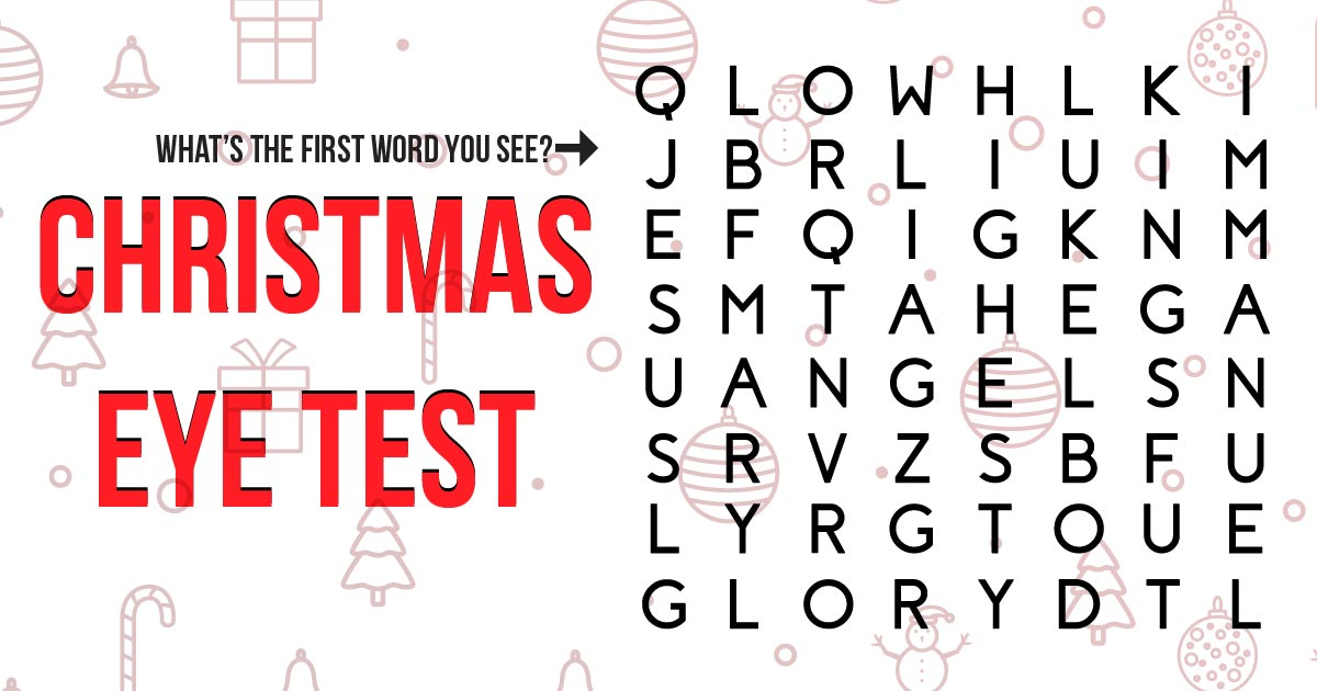 Christmas Word puzzle eye test